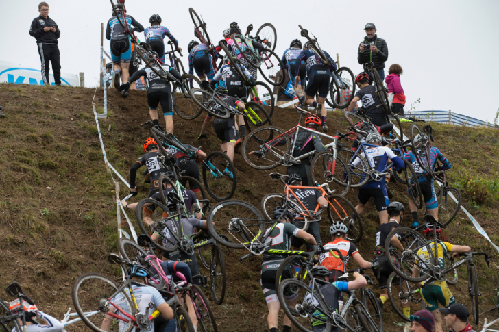 Masters racing offered traffic congestion unlike anything seen on Connecticut highways. Photo: Wil Matthews