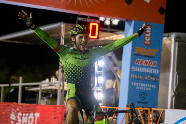 Curtis White claims his first UCI Elite victory. Photo: Wil Matthews